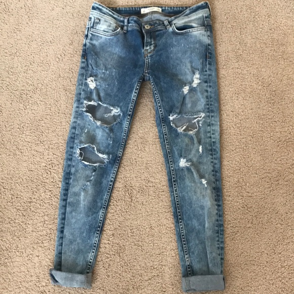 Abercrombie & Fitch Denim - Abercrombie ripped skinny jeans mid light wash